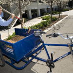 Pedal Truck for campus landscaping on college campus, UC Davis