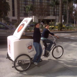Delivery trike for transporting your products