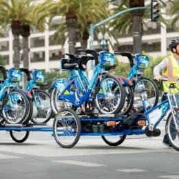 bike share pedal truck